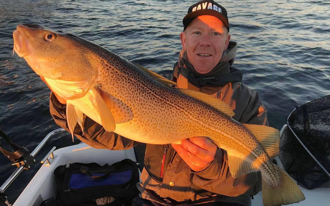 Johnni med sin flotte 6,7 kilos torsk fra Øresund
