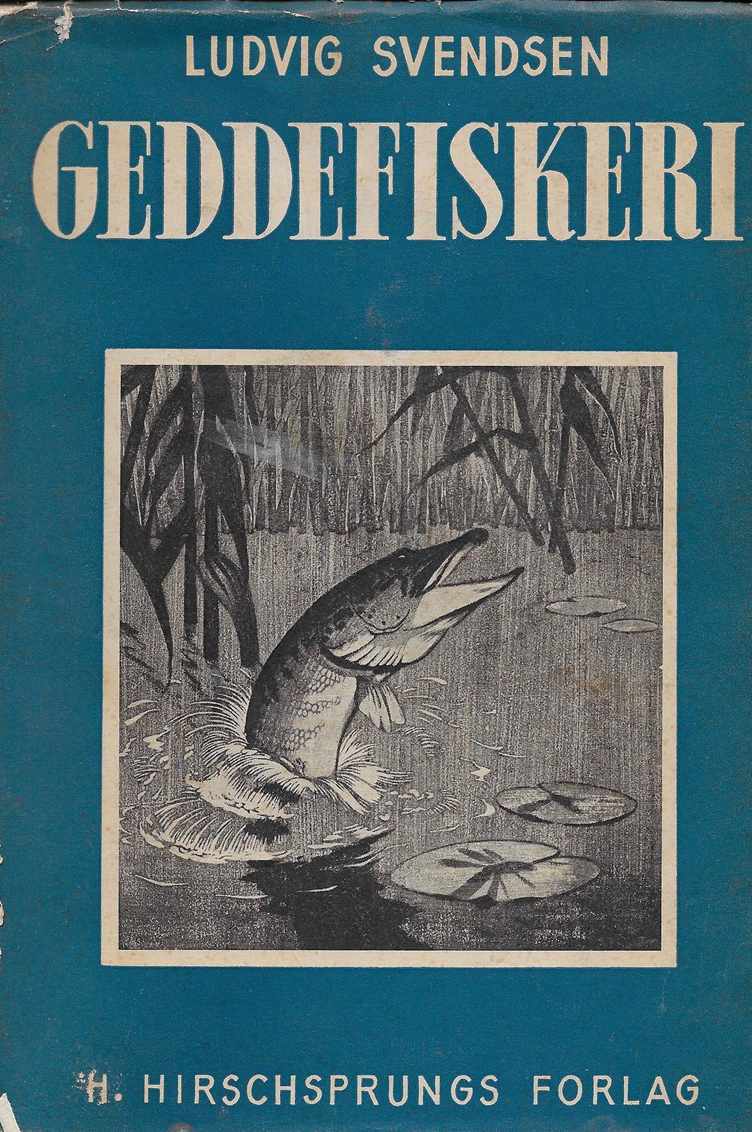 """Bogen geddefiskeri fra 1940, som var forløberen til """"Lystfiskerbogen"""" udkom i to oplag. 2. udgaven var grøn, mens 1. udgaven var blå."""