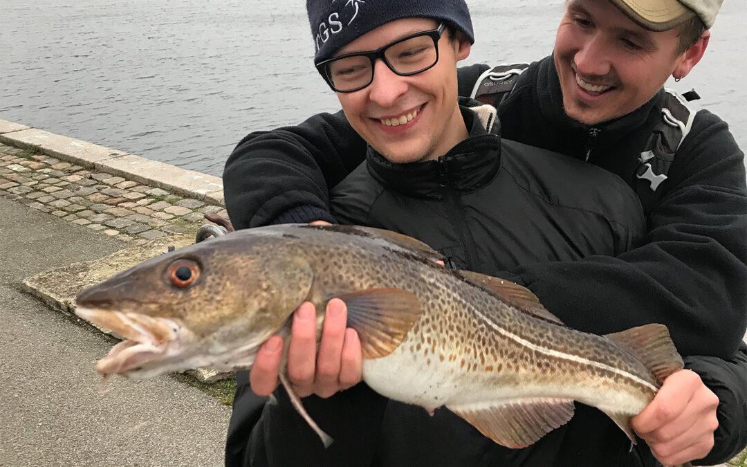 Ludvig Jakob Trier med sin fine torsk fra Københavns Havn