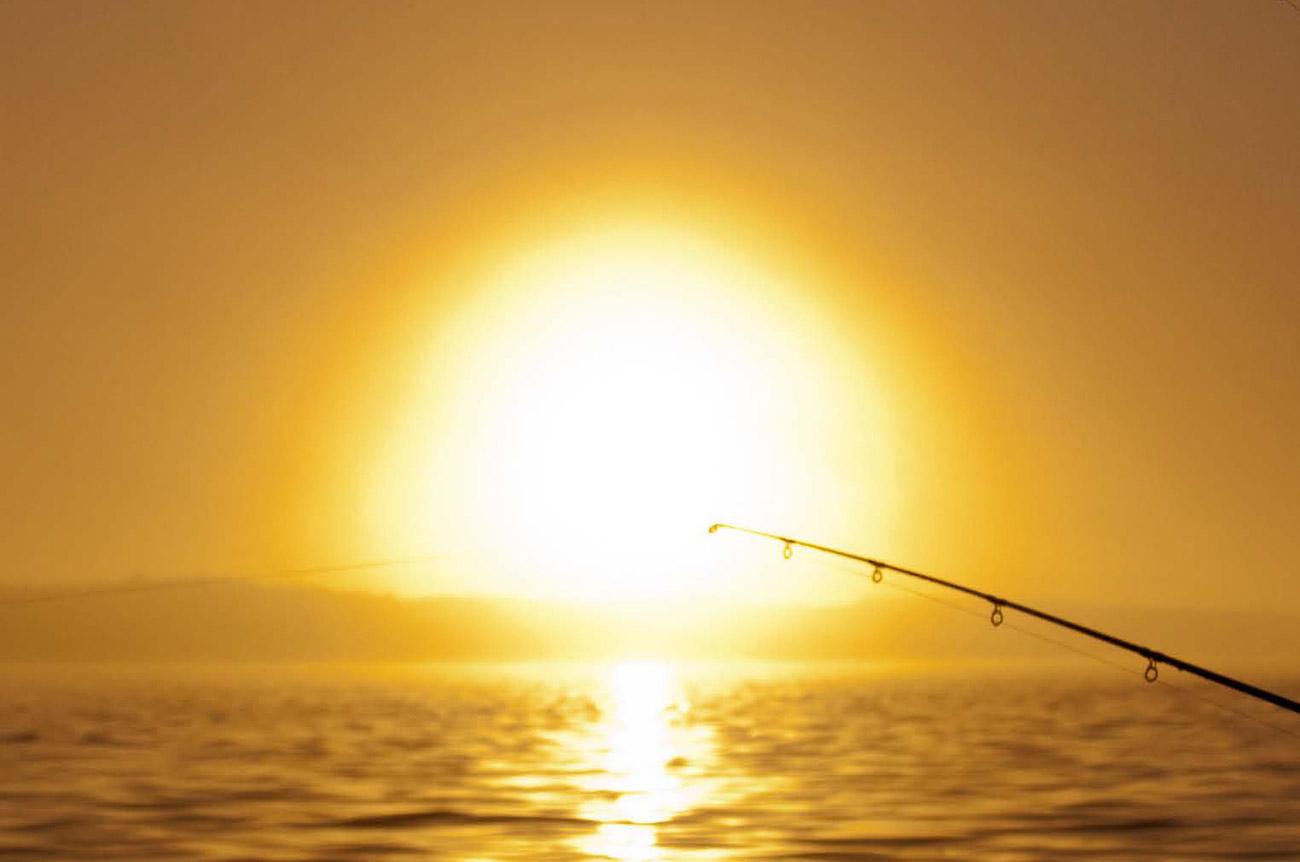Solopgang på geddesøen