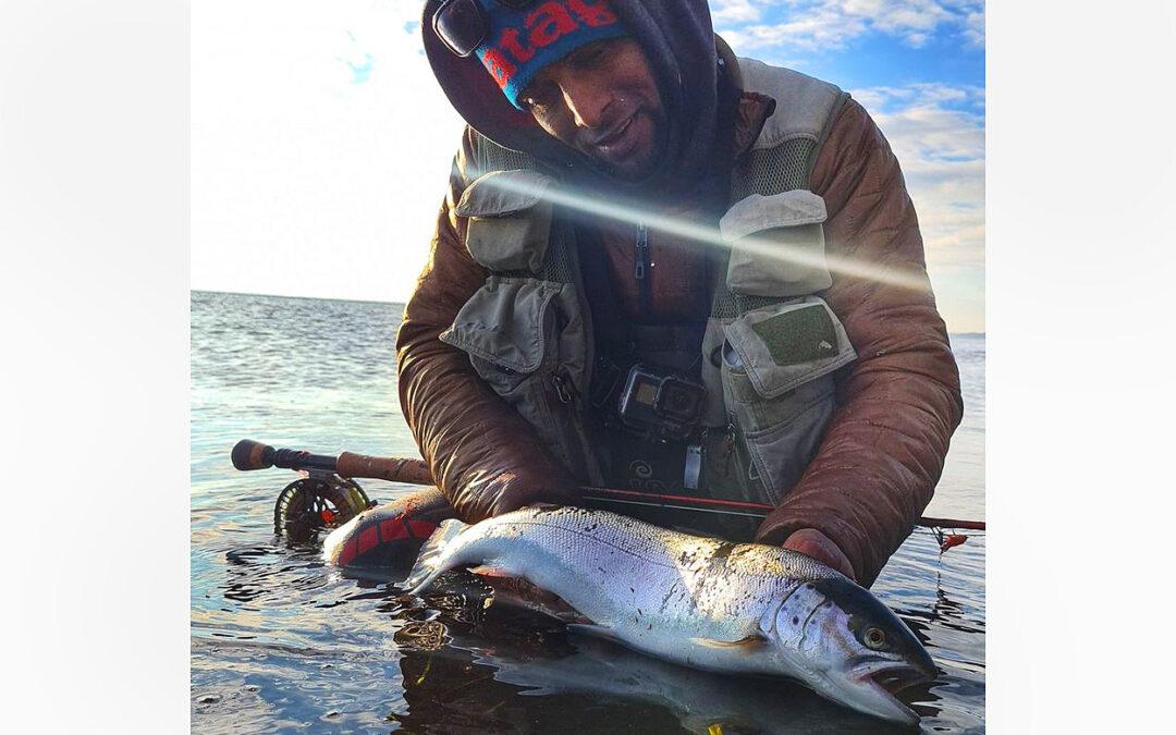 Gorm Andersen med en fin havørred fra Stevns