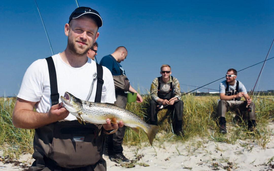 Selv når solen bager fra en skyfri himmel sidst i maj, er der fine havørreder at finde på Torø.