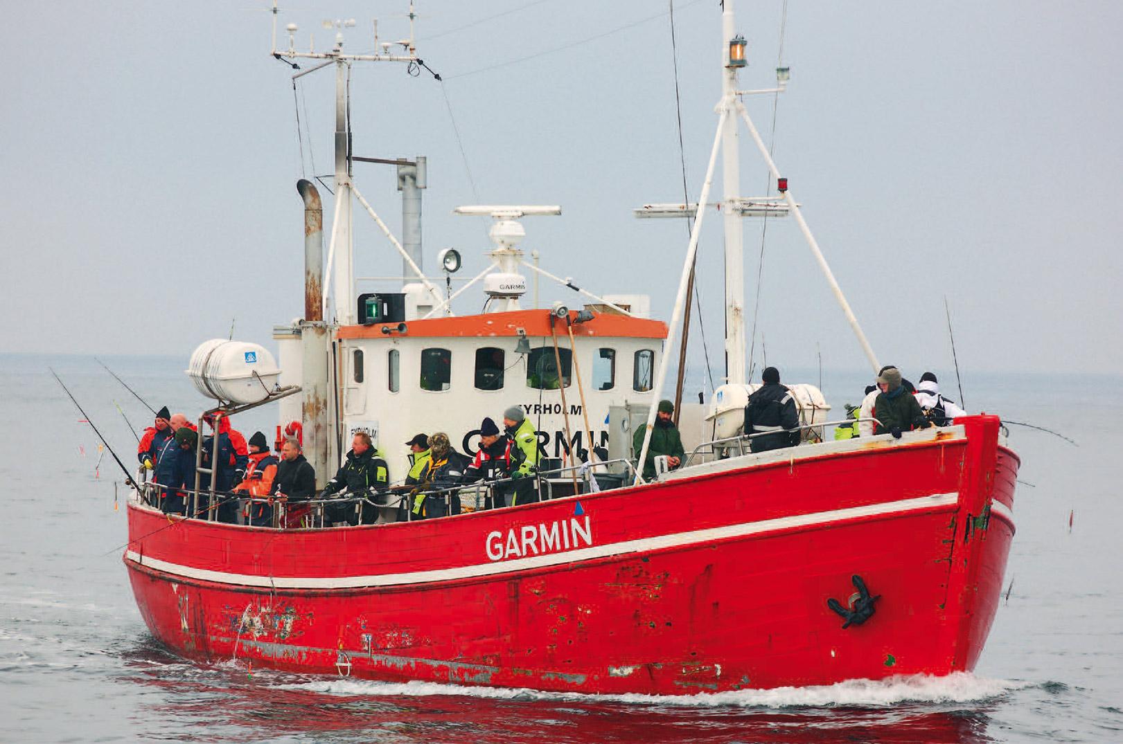 """Skipper søger efter """"buler""""på bunden. Det gælder om at være klar, når der klemtes med klokken."""