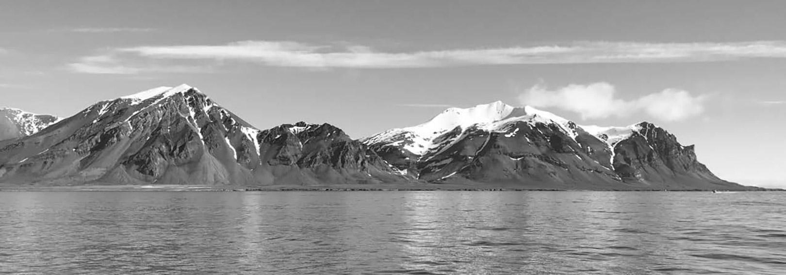 En fantastisk udsigt under fiskeriet ved Svalbard