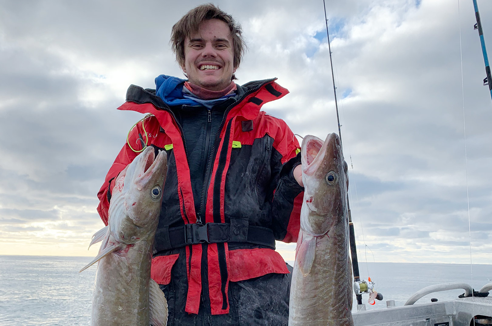 To store langer blev det også til for Emil på hans tur ud på Nordsøen.