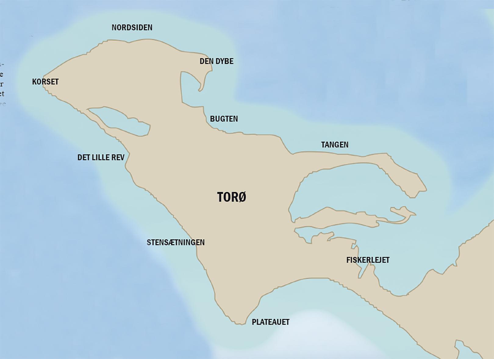 Kort over havørredpladserne på Fyn