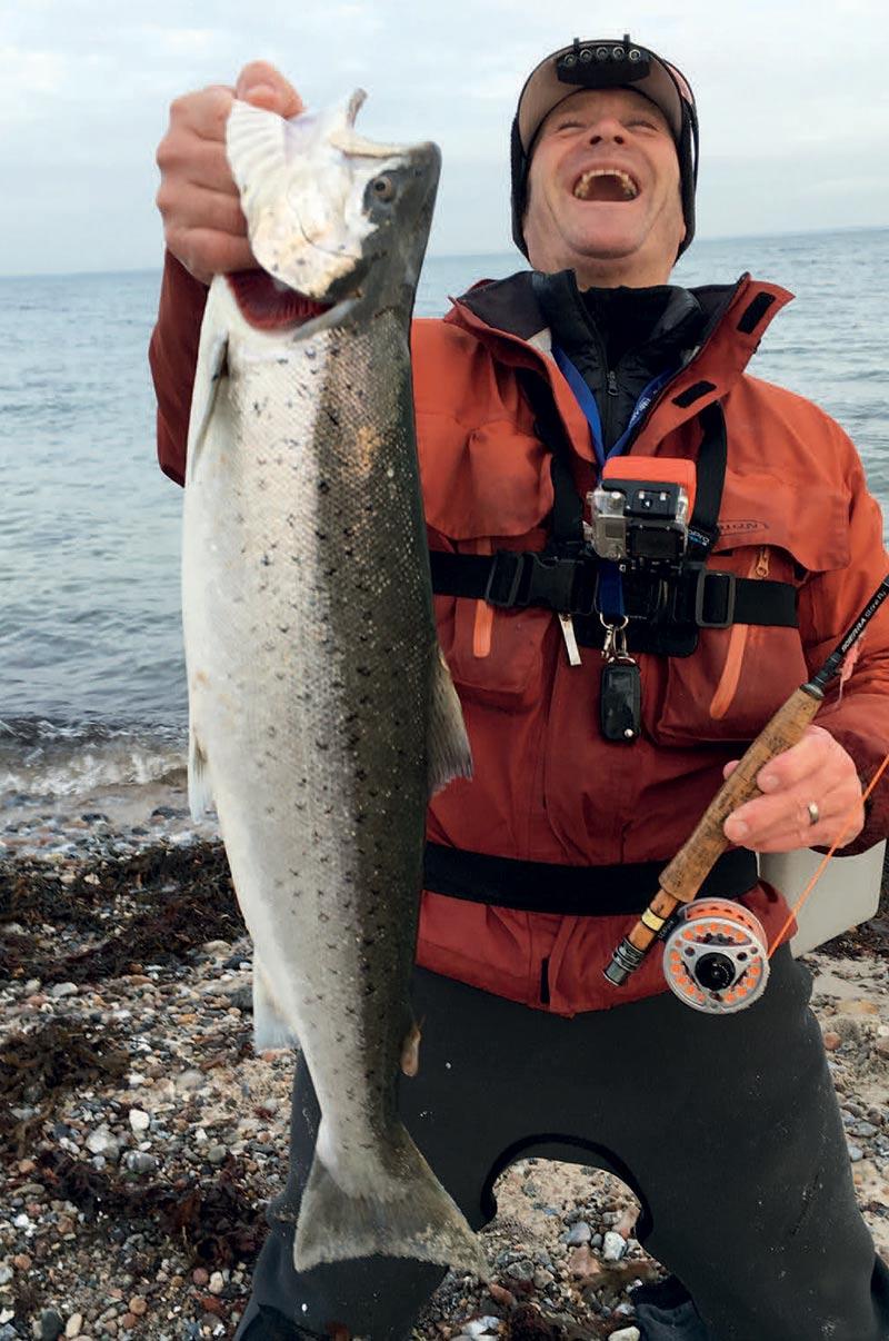 5 kilos fra Als fanget fra åben kyst i februar på #4 stang.