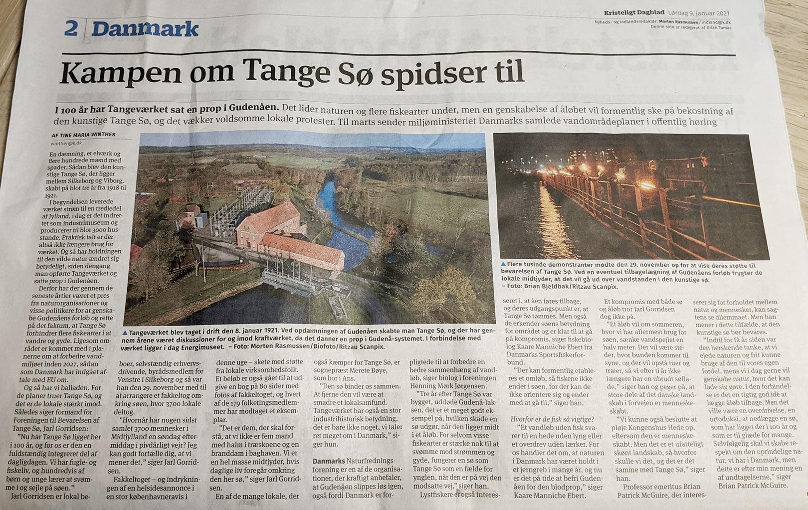 Den midtjyske presse har på det seneste haft mange artikler om Søslaget ved Tange. Primært af lokalpatriotisk karakter.