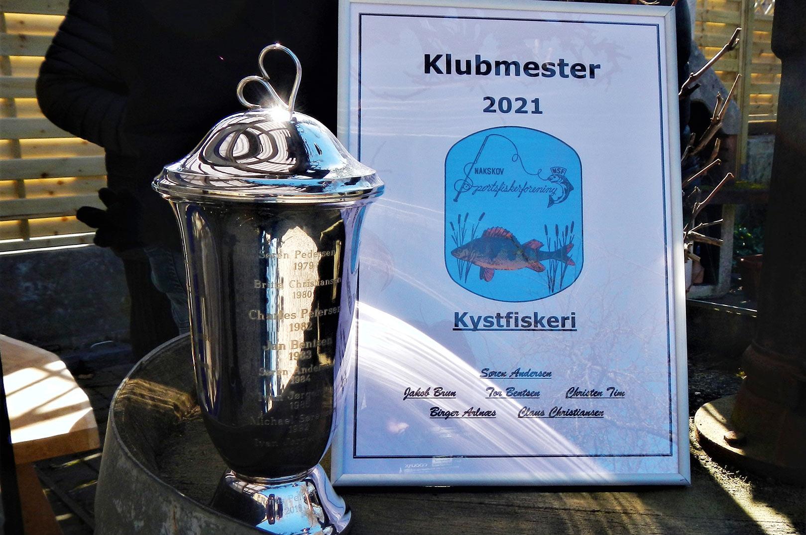 Claus Rysse Christiansen var vinder af Nakskov Sportsfisikerforenings klubmesterskab i kystfiskeri.