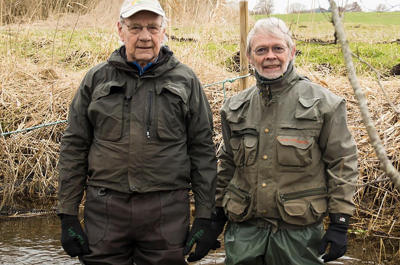 Leif Møller og Jørgen Tybrind og oplevet meget høj overlevelse på rugekasser i Tude Å systemet.