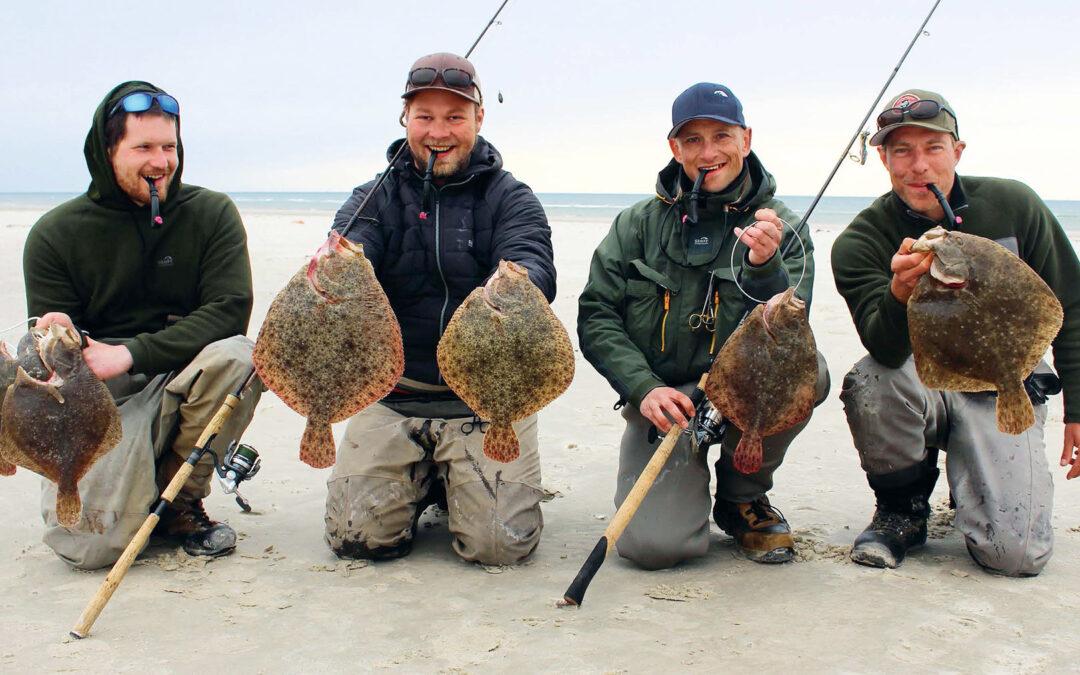 Weekendens fisketeam - fra venstre Rune Hageltorn, Stefan Skovbo, Rasmus Ditlefsen og Henrik Reiter.