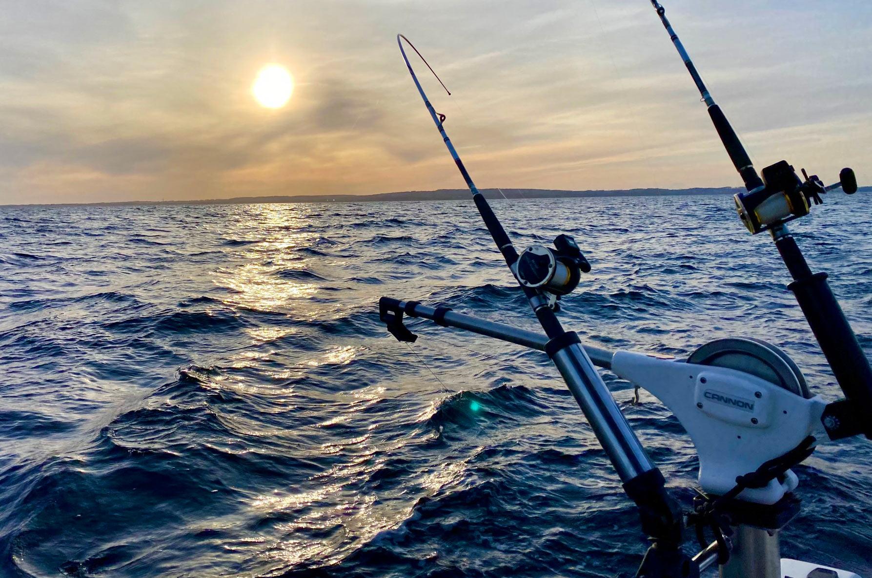 Det var en svær dag på Østersøen, men alligevel lykkedes det Søren Frederiksen at få en flot fisk.