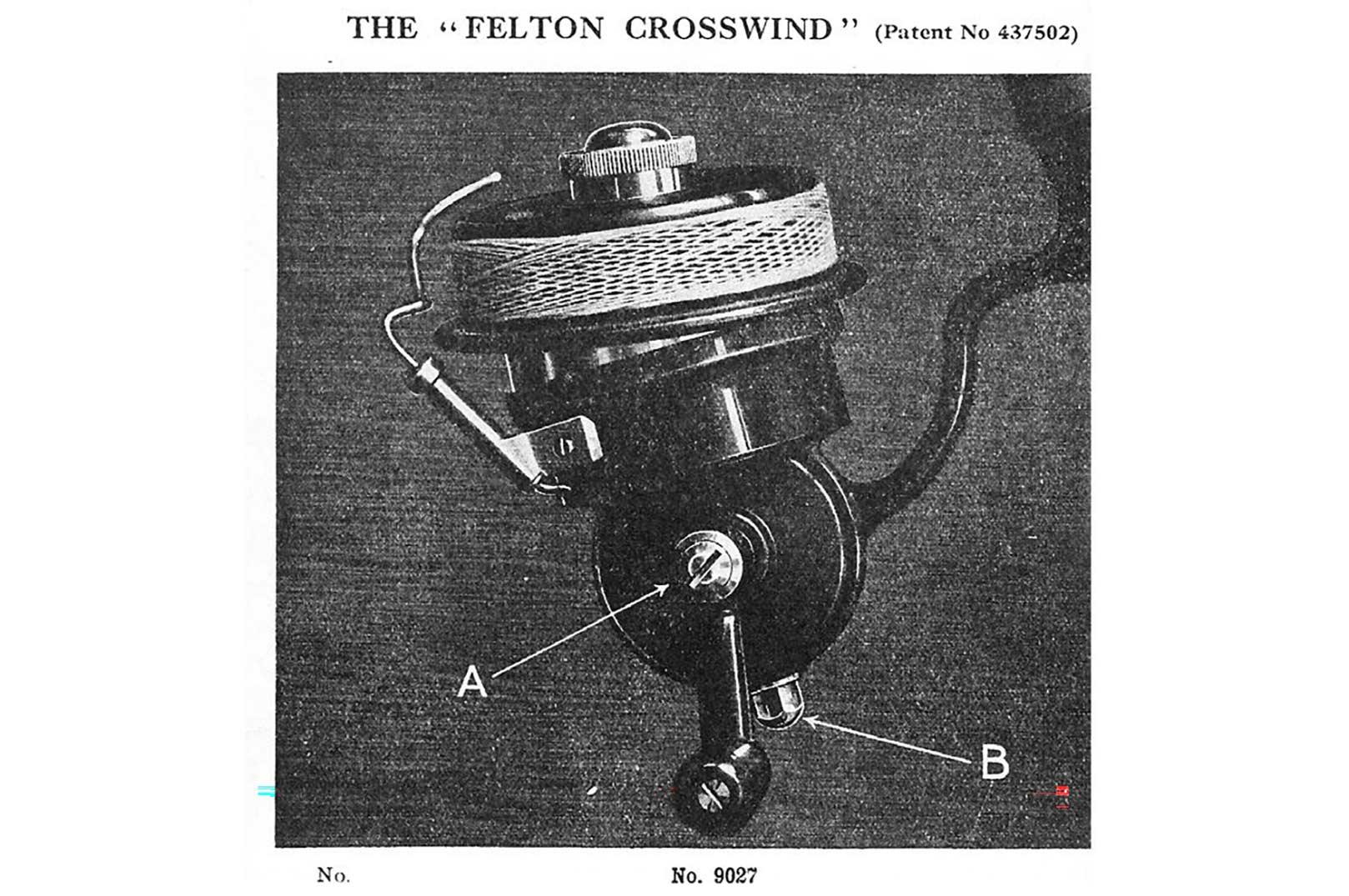 Dette er en annonce årgang 1935 fra Allcook. Felton Crosswind var det hotte nye, der bevægede sig som en mavedanser for et optimalt lineoplæg.