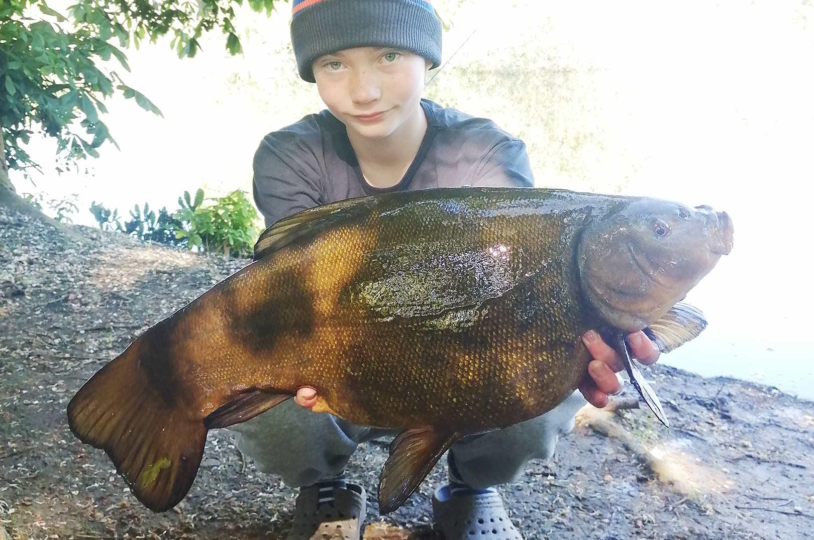 Jens Hansen med sin nye PR suder på over tre kilo.
