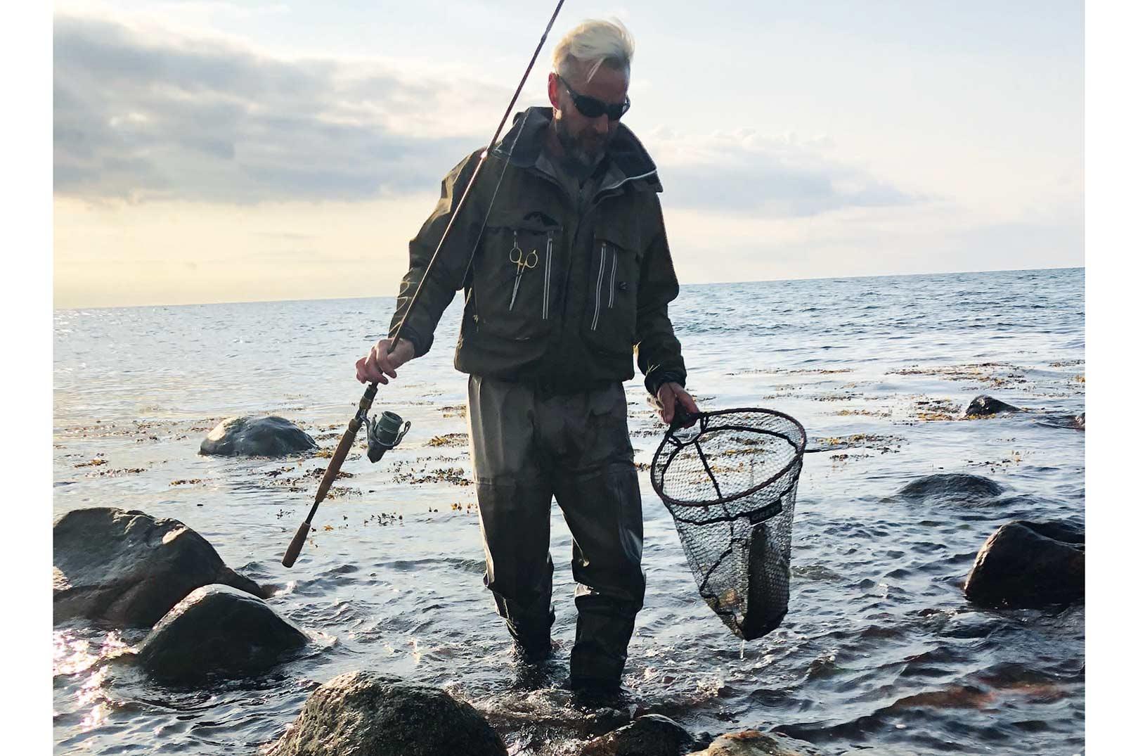 Peter Bodilsen med en fin fisk fra den sjællandske vestkyst.