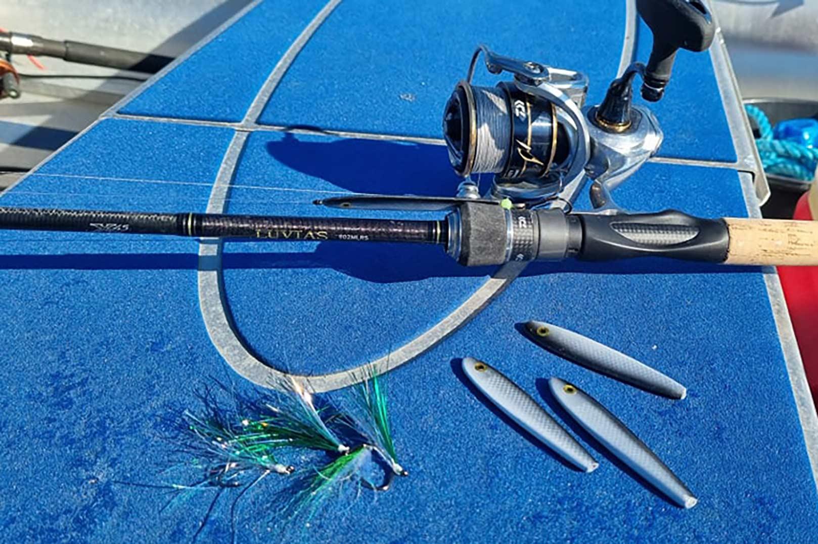 Et pålideligt letspin set-up, blink og ophængerfluer er alt du skal bruge for at lege med makrellerne.