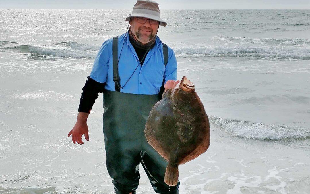 Moerten Klim med sin pragtpighvar på seks kilo