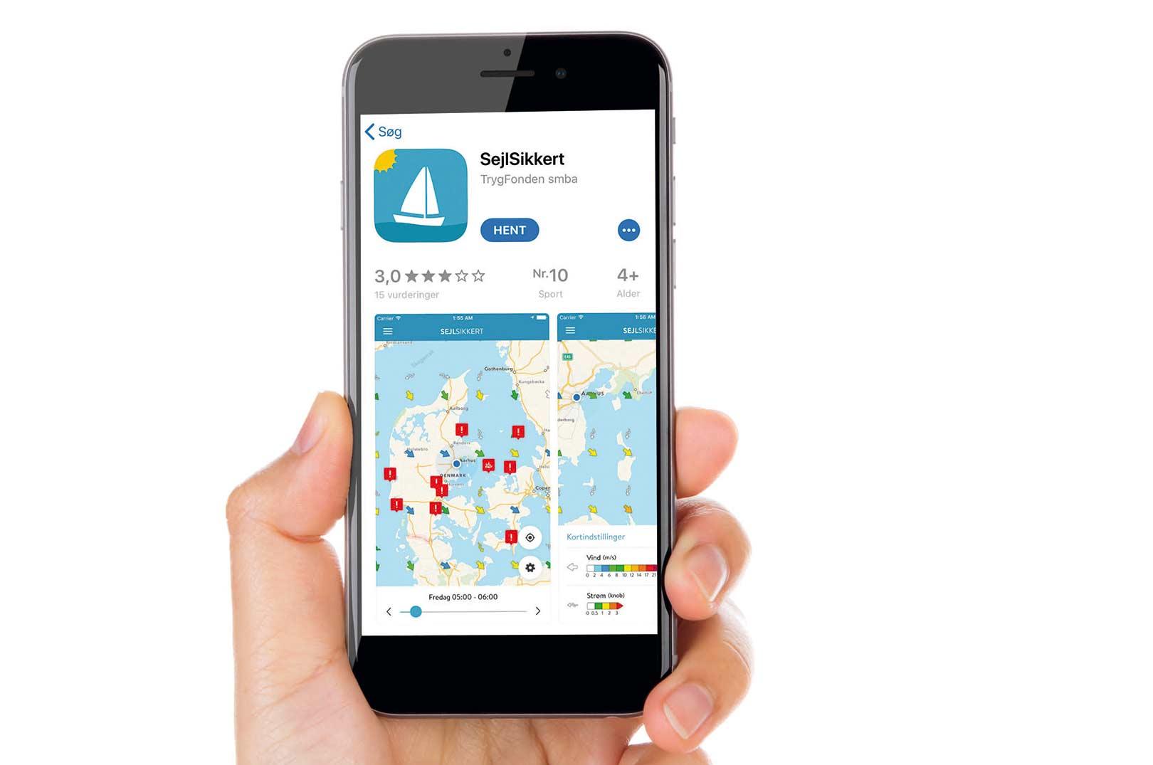 Appen er udviklet af Sejlsikkert, som er et samarbejde mellem Søsportens Sikkerhedsråd og TrygFonden. Den er tilgængelig i App Store og Google Play først på sommeren.