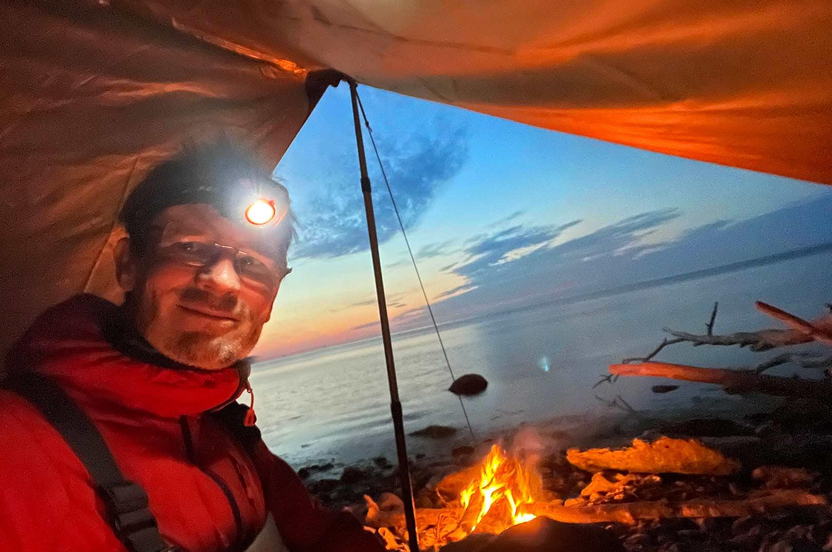 Klar til en nat på kysten i en Voss 9 PU fra Nordisk.