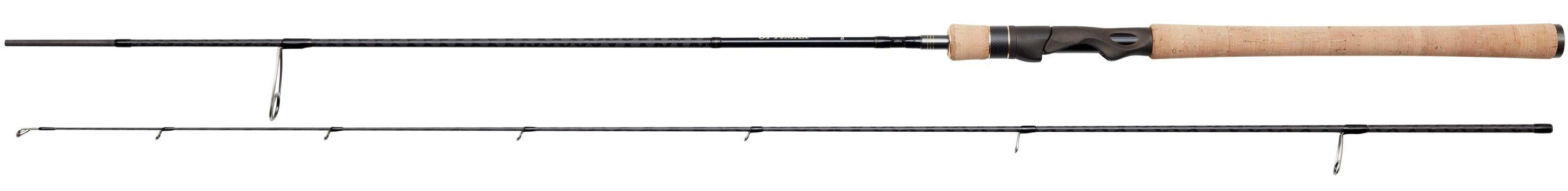 På de to kraftigeste af DAM Optimax modellerne er der kork i hele baghåndtagets længde.
