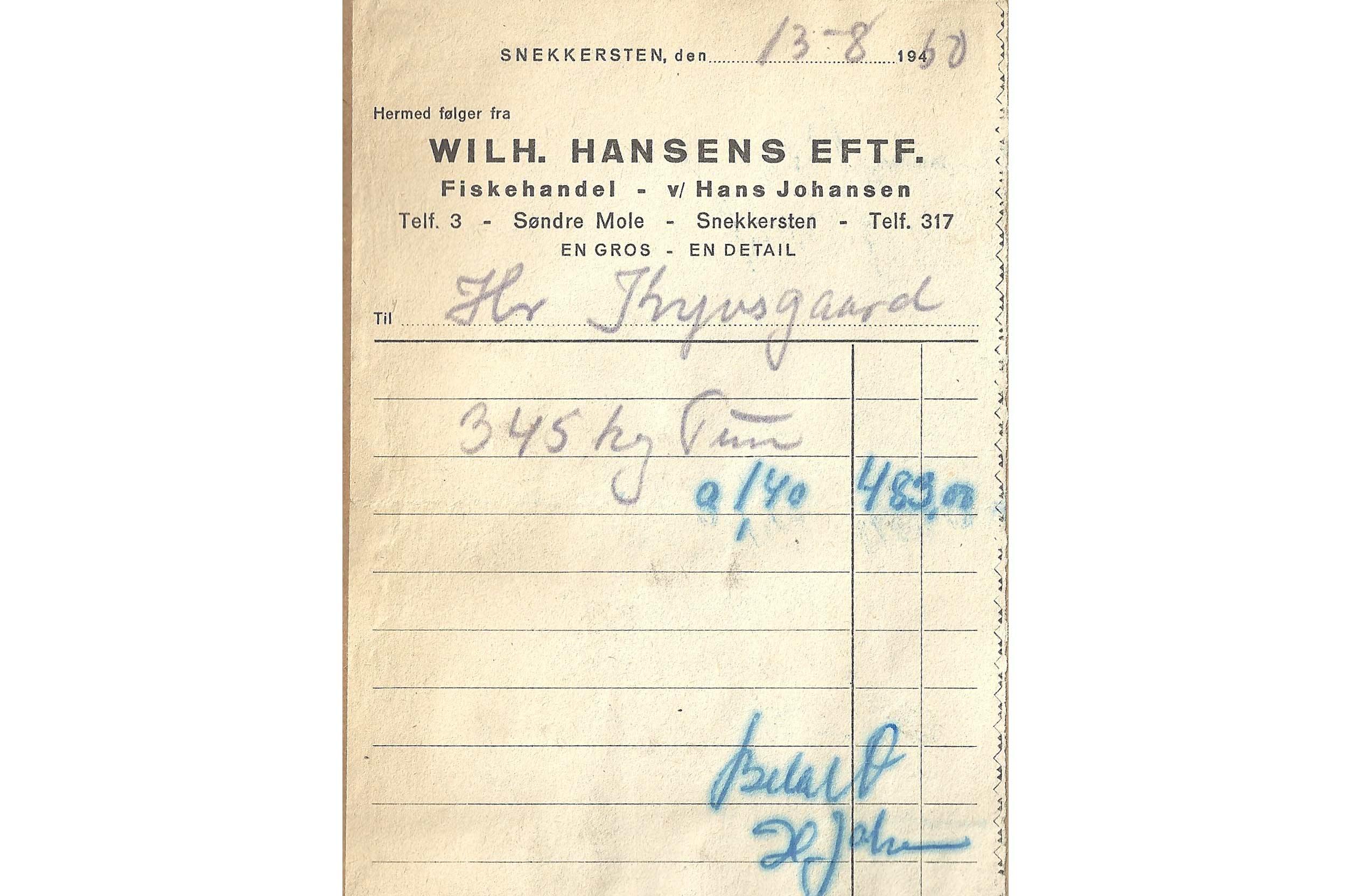483 kroner fik Knud Kyvsgaard for sin danske rekord tun i renset tilstand. I dag må man som lystfisker ikke sælge sin fangst.