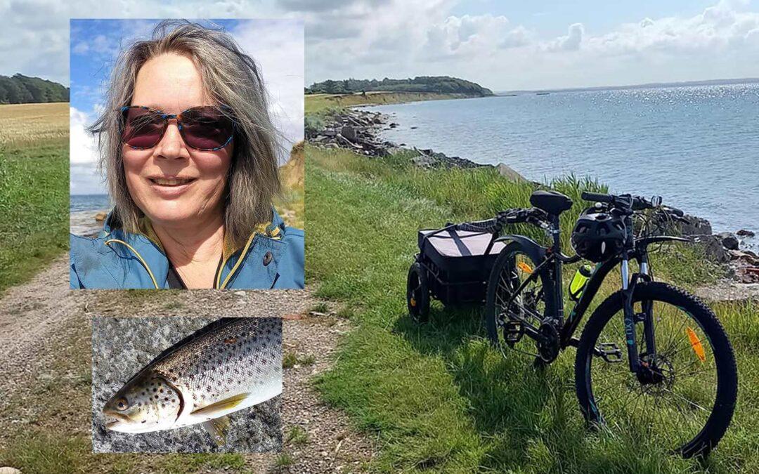 Birgitte Bendtsen cykler gerne langt for at fiske havørred