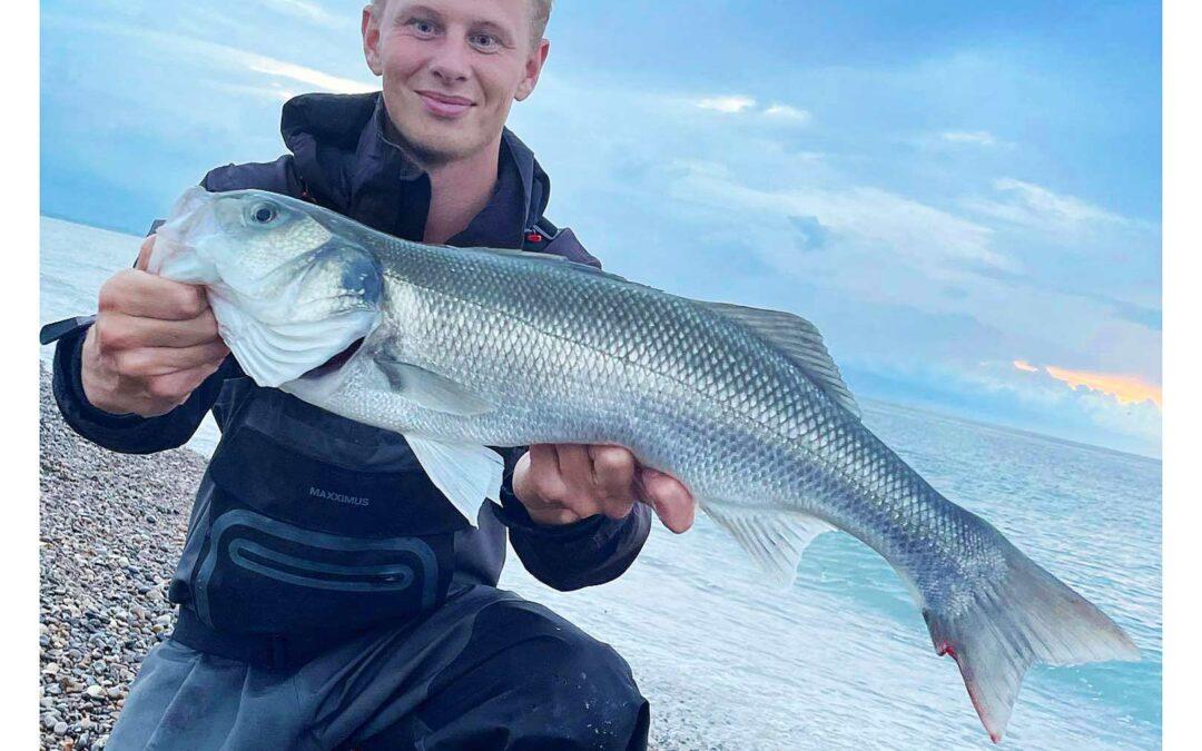 Mathias Lynge med sin flotte havbars