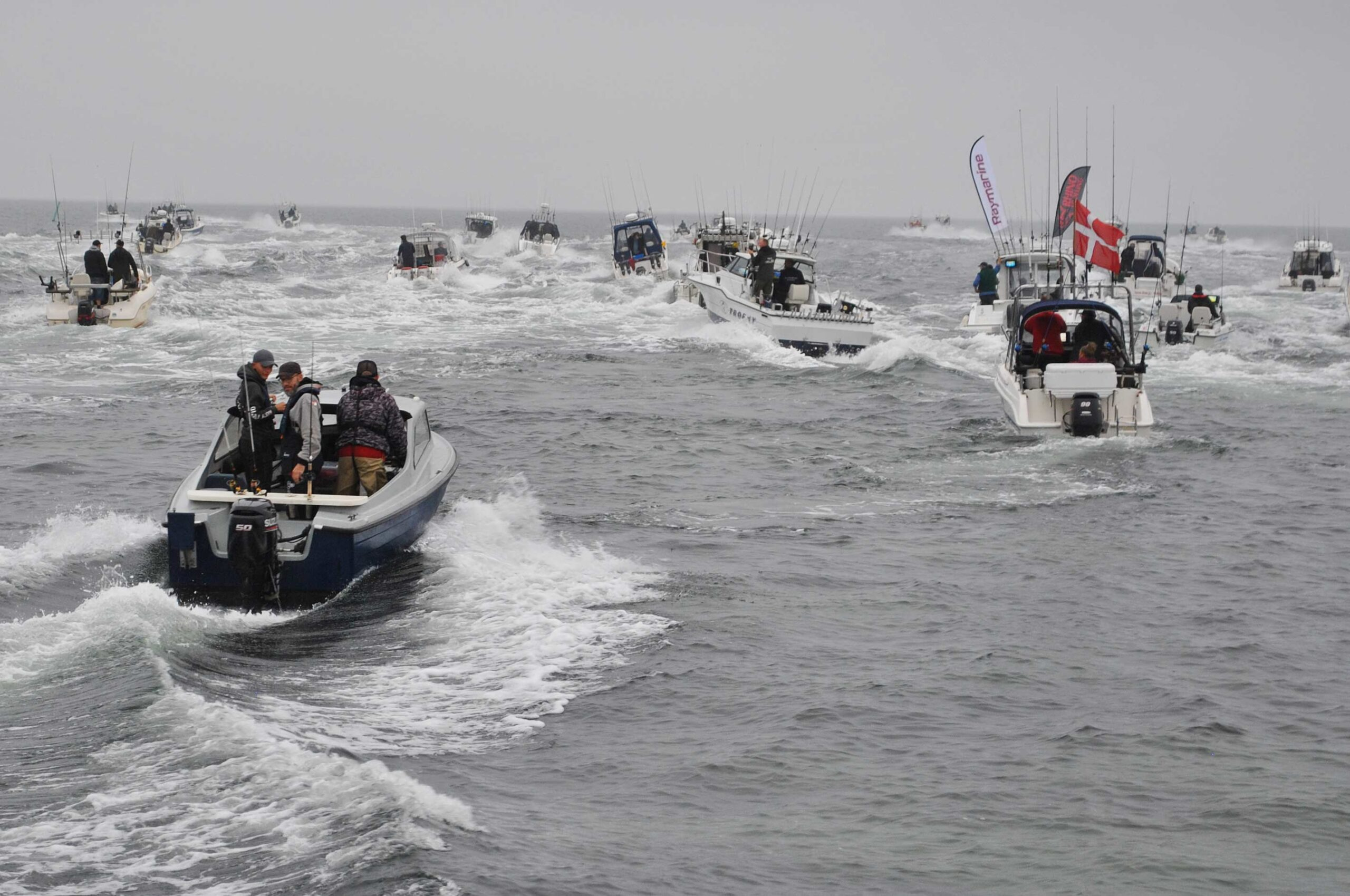 Der var god stemning da startten gik til årets DM i Fladfisk ved Onsevig i går.