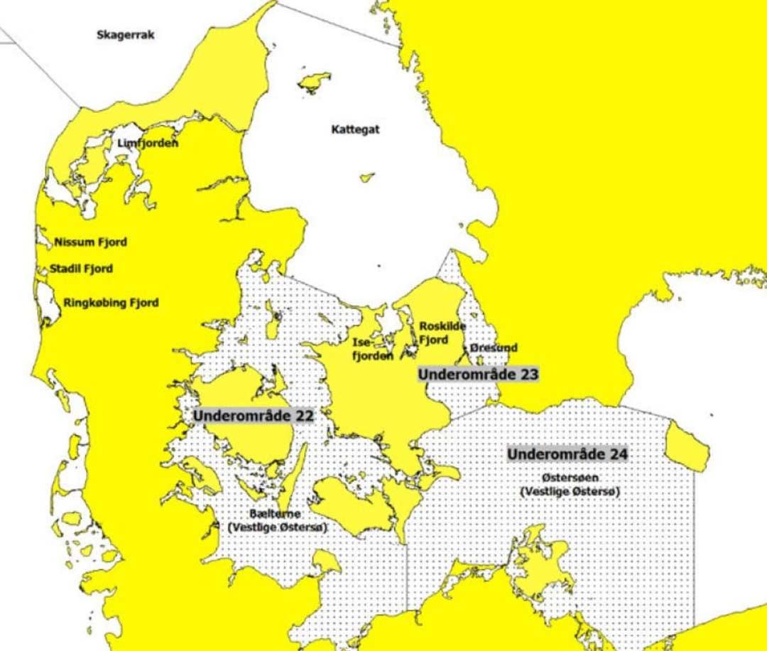 Kort over Østersøen